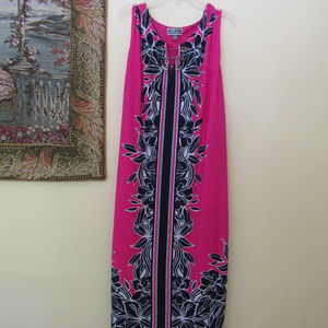 JM Collection Pink Dress Plus Size 2X